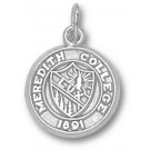 "Meredith College Angels ""Seal"" 1/2"" Charm - Sterling Silver Jewelry"