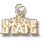 "Michigan State Spartans ""Bridge Design Logo"" 5/16"" Charm - 10KT Gold Jewelry"