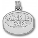 "Toronto Maple Leafs ""Maple Leafs Puck"" Pendant - Sterling Silver Jewelry"