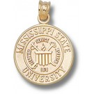"Mississippi State Bulldogs ""Seal"" Pendant - Gold Plated Jewelry"