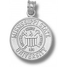 "Mississippi State Bulldogs ""Seal"" Pendant - Sterling Silver Jewelry"