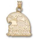 "Miami (Ohio) RedHawks ""Miami University RedHawks Hawk Head"" Pendant - 14KT Gold Jewelry"