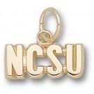 "North Carolina State Wolfpack ""NCSU"" 3/16"" Charm - 14KT Gold Jewelry"