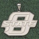 "Oklahoma State Cowboys Giant 1 7/8"" W x 1 1/4"" H ""O State"" Pendant - 14KT Gold Jewelry"