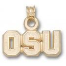 """Oregon State Beavers """"OSU"""" Pendant - 14KT Gold Jewelry"""