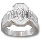 "Ohio State Buckeyes Athletic ""O"" Men's Ring Size 10 3/4 - Sterling Silver Jewelry"