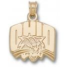 "Ohio Bobcats ""OHIO with Bobcat Head"" Pendant - 14KT Gold Jewelry"