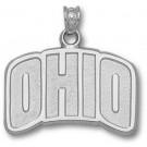 "Ohio University Bobcats ""Ohio"" 5/8"" Pendant - Sterling Silver Jewelry"