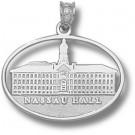 "Princeton Tigers Pierced Oval ""Nassau Hall"" Pendant - Sterling Silver Jewelry"