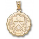 """Princeton Tigers Round """"Seal"""" Pendant - 14KT Gold Jewelry"""