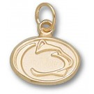 """Penn State Nittany Lions 3/8"""" """"Lion Head"""" Charm - 10KT Gold Jewelry"""
