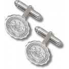 """Penn State Nittany Lions """"Seal"""" Sterling Silver Cuff Links - 1 Pair"""