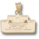 """Indianapolis Motor Speedway """"Open Wheel Car Front View"""" Pendant - 14KT Gold Jewelry"""