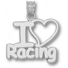 """Indianapolis Motor Speedway """"I Love Racing"""" Pendant - Sterling Silver Jewelry"""