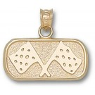 """Indianapolis Motor Speedway Oval """"Track Flags"""" 3/8"""" Pendant - 14KT Gold Jewelry"""