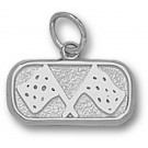 """Indianapolis Motor Speedway Oval """"Track Flags"""" 1/4"""" Charm - Sterling Silver Jewelry"""