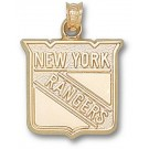 "New York Rangers 5/8"" Shield Logo Pendant - Gold Plated Jewelry"