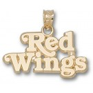 "Detroit Red Wings ""Red Wings"" Pendant - 14KT Gold Jewelry"