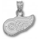 "Detroit Red Wings 3/8"" Logo Pendant - 14KT White Gold Jewelry"