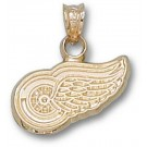 "Detroit Red Wings ""Wing Logo"" 3/8"" Pendant - 14KT Gold Jewelry"