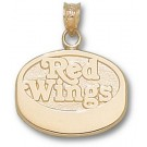 "Detroit Red Wings ""Red Wings Puck"" Pendant - 14KT Gold Jewelry"