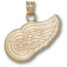 "Detroit Red Wings 5/8"" Logo Pendant - 10KT Gold Jewelry"