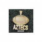 """San Diego State Aztecs """"Aztecs Football"""" Pendant - 14KT Gold Jewelry"""