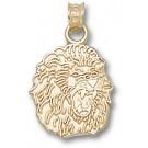 "Southeastern Louisiana Lions ""Lion Head"" 5/8"" Pendant - 14KT Gold Jewelry"