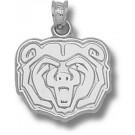 "Missouri State University Bears ""Bear Head"" 5/8"" Pendant - Sterling Silver Jewelry"