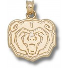 "Missouri State University Bears ""Bear Head"" 5/8"" Pendant - 14KT Gold Jewelry"