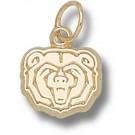 "Missouri State University Bears ""Bear Head"" 3/8"" Charm - 14KT Gold Jewelry"