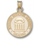 "Southern Methodist (SMU) Mustangs ""Seal"" Pendant - 14KT Gold Jewelry"