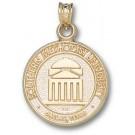 "Southern Methodist (SMU) Mustangs ""Seal"" Pendant - 14KT Gold Jewelry"