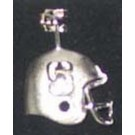 """Stanford Cardinal """"S Helmet"""" Pendant - Sterling Silver Jewelry (3/4"""" W x 3/4"""" H)"""