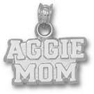 "Texas A &M Aggies ""Aggie Mom"" Pendant - Sterling Silver Jewelry"