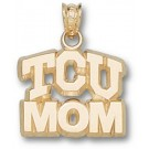 "Texas Christian Horned Frogs Arched ""TCU Mom"" Pendant - 10KT Gold Jewelry"