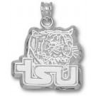 """Tennessee State Tigers """"Tiger Head"""" Pendant - Sterling Silver Jewelry"""