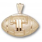 """Temple Owls """"T Football"""" Pendant - 14KT Gold Jewelry"""
