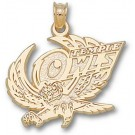 """Temple Owls """"Temple Owl"""" Pendant - 14KT Gold Jewelry"""