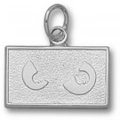 """Temple Owls """"Owl Eyes"""" 3/8"""" Charm - Sterling Silver Jewelry"""