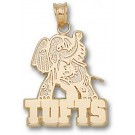 "Tufts Jumbos ""Tufts with Jumbo Mascot"" Pendant - 14KT Gold Jewelry"