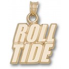 "Alabama Crimson Tide ""Roll Tide"" Pendant - 10KT Gold Jewelry"