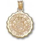 "Akron Zips ""Seal"" Pendant - 14KT Gold Jewelry"
