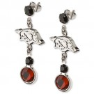 Arkansas Razorbacks Logo Crystal Earrings