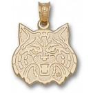 "Arizona Wildcats ""Wildcat Face"" 1/2"" Pendant - 14KT Gold Jewelry"
