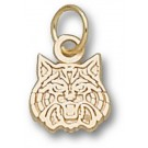"Arizona Wildcats ""Wildcat Face"" 5/16"" Charm - 14KT Gold Jewelry"