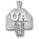 """Arizona Wildcats """"UA Basketball Backboard"""" Pendant - Sterling Silver Jewelry"""