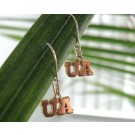 "Arizona Wildcats 3/8"" ""UA"" Dangle Earrings - 10KT Gold Jewelry"