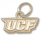 """UCF (Central Florida) Knights 3/16"""" """"UCF"""" Charm - 14KT Gold Jewelry"""