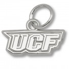 """UCF (Central Florida) Knights 3/16"""" """"UCF"""" Charm - Sterling Silver Jewelry"""